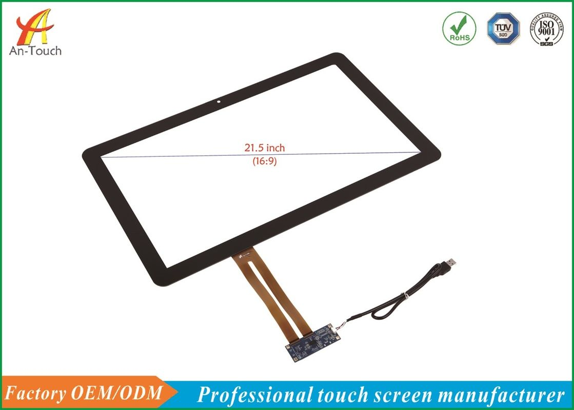 21.5 Inch KTV Touch Screen Panel 2mm Thickness 6H Cover Glass , 4KV ESD Contact
