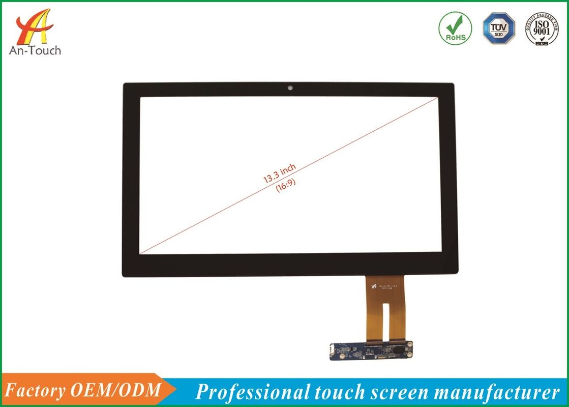 13.3 Inch Industrial Touch Panel Anti - Radiation With AR / AF / AG Glass